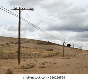 Old wooden electric poles