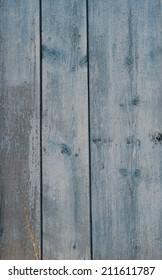 old wooden fence blue