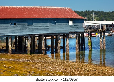Old Wooden Fishing Dock Low Tide Gig Harbor, Pierce County, Washington State Pacific Northwest
