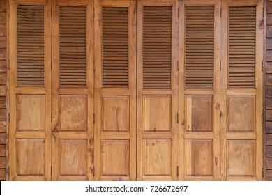 Old Wooden Folding Doors