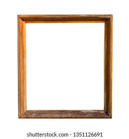 old wooden frame. isolated on white background
