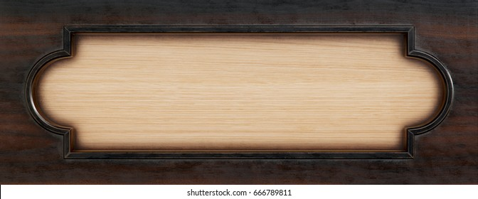old wooden frame. isolated on white. 3d rendering