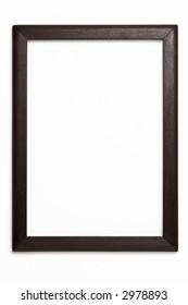old wooden frame on white