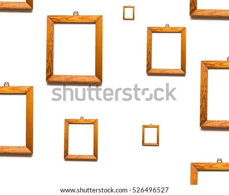 Old Wooden Frames Pine Wood Hanging Stock Photo Edit Now 526496527