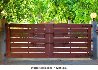 An Old Wooden Gate on the Main Entrance