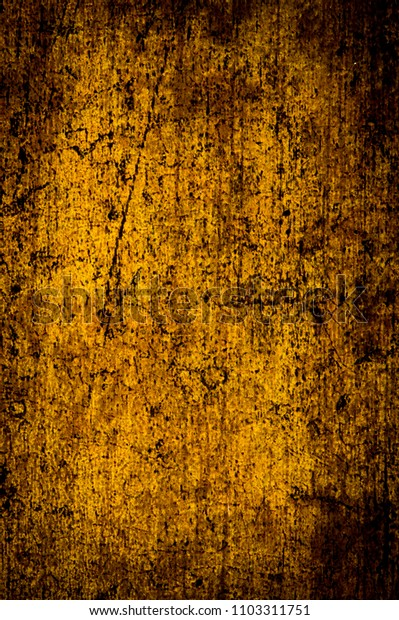 Old wooden golden abstract background pattern.