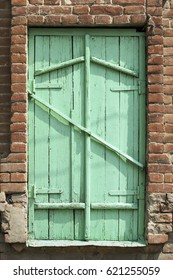 Old Wooden Green Shutters