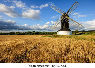 Old wooden historical windmill at Pitstone,Bedfordshire,England