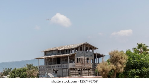 old wooden house in Achziv, Israel