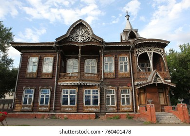 Old wooden house ,Barnaul, Altai region,Russia,
