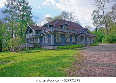 Old wooden house in Bialowieza National Park as a part of Belovezhskaya Pushcha National Park in Poland.