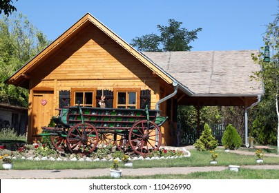 old wooden house and coach