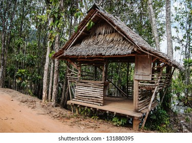 Old wooden house  in the tropics