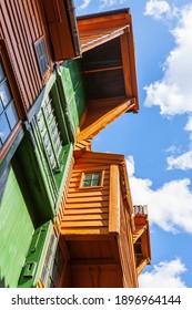 Old wooden houses at Bryggen in Bergen, Norway