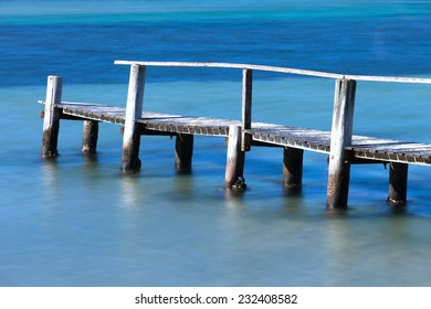 Old wooden jetty at Merimbula, NSW Australia