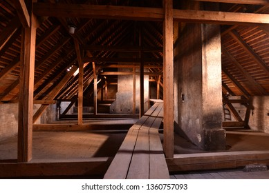 Old wooden loft space.