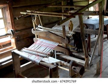 Old wooden loom Karelia