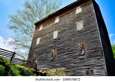 Old wooden mill house