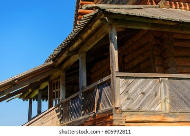 Old wooden Orthodox church on the territory of the Suzdal Kremlin. Gold ring of Russia.