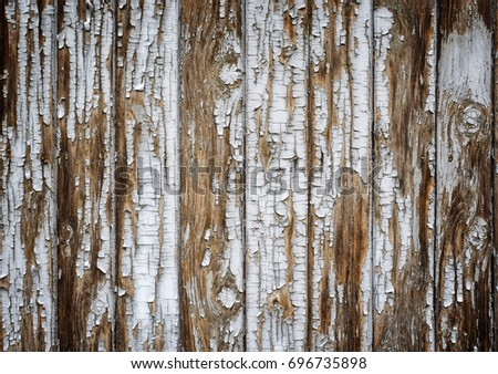 Old Wooden Painted White Rustic Background With Paint Peeling Off Ultra High Resolution Texture