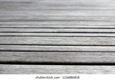 old wooden pier closeup