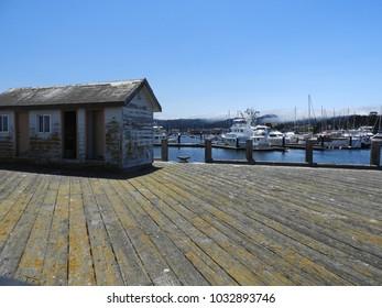 Old wooden pier in Monterey