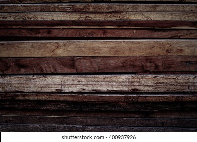 old wooden pine stack