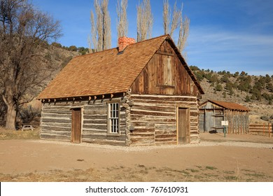 Old wooden pioneer Cabin, Utah, USA.