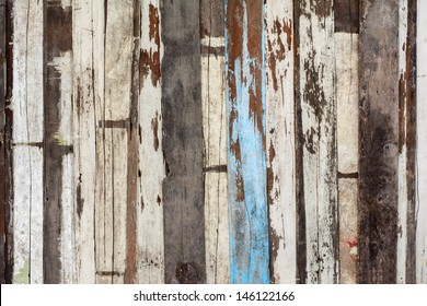 Old wooden plank wall background texture