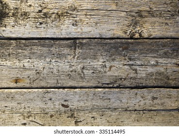 old wooden planks ruined