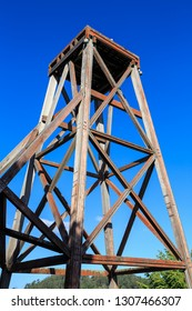An Old Wooden Poppet Headframe. These Structures are Used to Winch Ore and Miners In and Out of Mine Shafts. Waihi, New Zealand