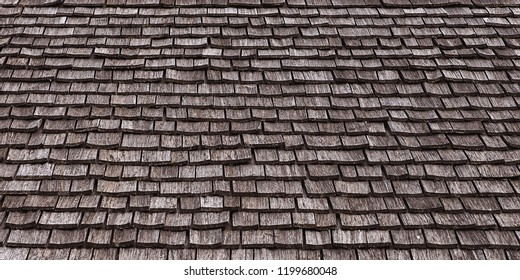 Old wooden roof tiles as a grunge background
