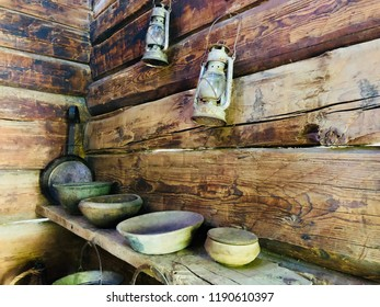 Old wooden room