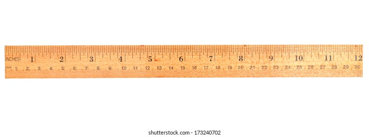 An old wooden ruler, 12 inch