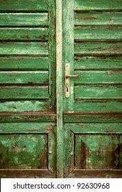 Old wooden rustic door detail