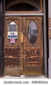 Old Wooden Saloon, Bar Doors and Windows