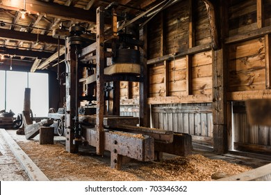 Old wooden sawmill along the coast of Maine