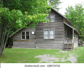 Old wooden sawn log home