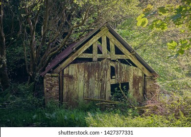 Old wooden shack in the countryside