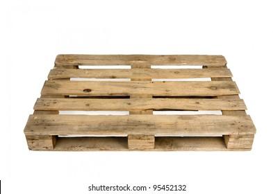 Old wooden shipping pallet, studio shot
