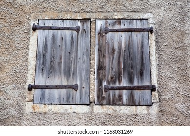 old wooden shutters in the house