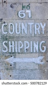 old wooden sign to country