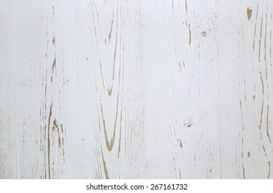 Old wooden surface painted in white.Background