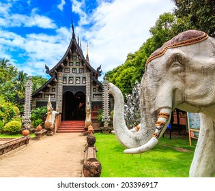 Old wooden Temple of Wat Lok Molee Chiang mai Thailand
