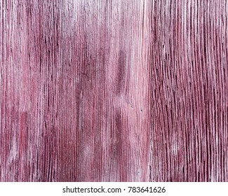Old wooden texture of purple color with crack.  Wooden painted surface. Close up wood. Natural fon. Old wooden purple color. Natural texture.
