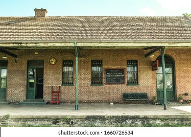 old wooden train station abandoned