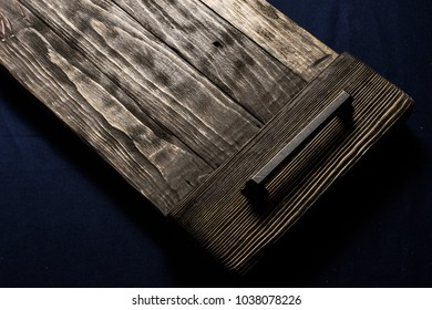 Old wooden tray.