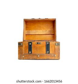Old wooden treasure box vintage style