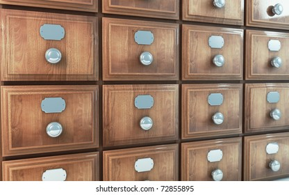 old wooden vintage drawer cabinet