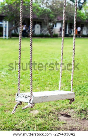 bf6fd19c7f Old Wooden Vintage Garden Swing On Stock Photo (Edit Now) 229483042 ...